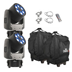 Chauvet Dj Intimidator Trio Led Moving Head Stage Light - Pair With 2 Bags,