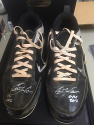2012 Carlos Correa Game Used Autographed Auto Spikes Cleats Both Auto Psa/dna