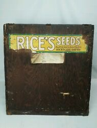 Antique 1920's Rice's Seeds Counter Display