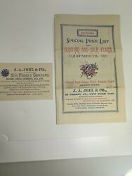 Antique 1890s J.a. Joel And Co New York Flags Swords Military Equipment Brochure