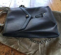 Campomaggi Black Saddle Leather Backpack Rucksack Book School Bag Classic Italy