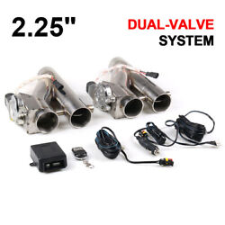 2andtimes2.25 57mm Exhaust Control E-cut Out Dual Valve Electric Y Pipe With Remote