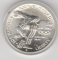 Los Angeles Olympics 1983 S  Commemorative 90 Silver Dollar Us Coin