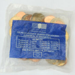 France 1999 - 2001 Euro Coin Starter Pack 40 Coins 1 2 5 10 20 50 Cent Euro Bunc