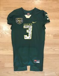 Oregon Ducks Football Signed Chip Kelly Spring Game Jersey Support Our Troops
