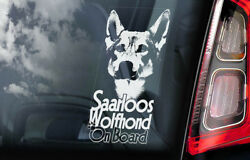 Saarloos Wolfhond Car Sticker Wolfhound Dog Window Sign Decal Gift Pet - V01