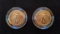 2008- American Eagle Gold 1/4 oz  $10 (Set of 2) Coins