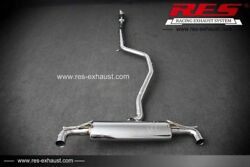 Res Catback +1 Tips Each Side For Benz W176 A180 A200 A260 2013- 1.6t/2.0t