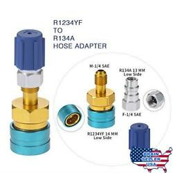 R1234YF to R134A Low Side Quick Coupler, R12 to R134A Hose Adapter Fitting Conne