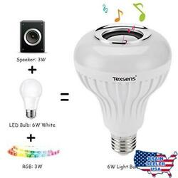 Texsens Lamp Smart Bulb Speaker with Updated Remote Control-Light Flashing as Mu