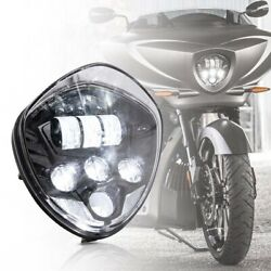 Black 60w Led Motorcycle Headlight For Victory Cross Country Magnum Hammer Vegas