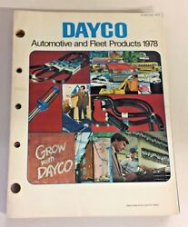 Vintage 1978 Dayco Automotive Aftermarket Company Fleet Car Products Catalog Oh