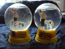 Lone Ranger Pair Of Glass Snow Globesyellow Bases The Driss Co Usa1950and039s