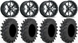Itp Cyclone 14 Wheels Machined 30 Outback Max Tires Yamaha Grizzly Rhino