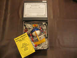 Vintage German Tucher And Walther Toys Aerial Boat W/ Man And Balloon Tin Metal Toy