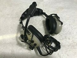 Pilot Headphones Softcomm Model C 40 Pro-am Stereo Headset With Mic For Parts