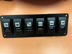 Switch Panel Carling Contura Ii V1d1 Vjd1 Vld1 Black Switches Psc61bk Screened