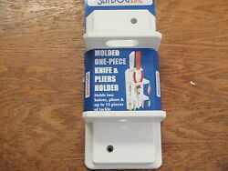 Fishing Pliers Knife Holder 3259251 Tool Lures Fits 2 Knives Boat Hardware White