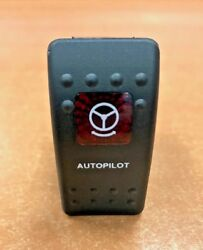 Autopilot Switch Black With Red Lens V2d1 Momentary Carling Contura Boat Parts