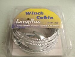 Boat Trailer Winch Cable 241 59379 3/16 X 20ft 4200lbs Break Strength Boating