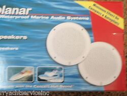 Marine Stereo Boat Speakers Poly Planer 665 Ma4056w 6 Coaxial 80 Watts Pair