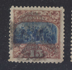 US 1869 SCOTT 119a-OmittedNO GRILL ERROR UNLISTED IN SCOTT CAT YET! XF-JUMBO