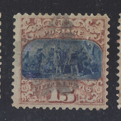 US 1869 SCOTT 119a-OmittedNO GRILL ERROR UNLISTED IN SCOTT CAT ERROR
