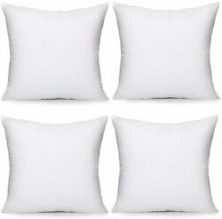 Moonrest 4 Pack Synthetic Down Square Pillow Insert Form Sham Stuffing 100 Dow