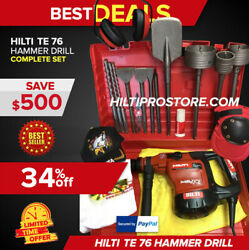 Hilti Te 76 Hammer Drill, Preowned, Free Chisels, Bits, Extras, Quick Ship