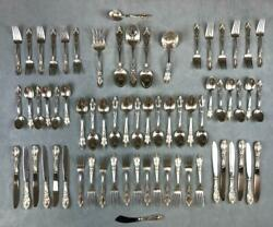 Vtg Towle King Richard 67pc Sterling Silver Flatware Set Service For 12 + Extras