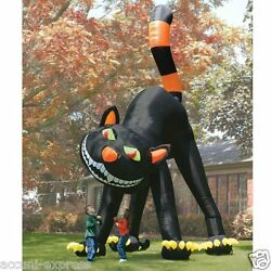 20ft Lovely Animated Giant Inflatable Black Cat For Halloween Decoration Sz