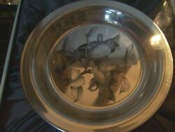 Pristine Nib 1973 Sterling Silver Collector Plate The Cardinal Franklin Mint