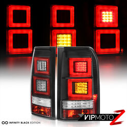 2005-2009 Land Rover Discovery 3 Lr3 [oled Neon Tube] Black Led Rear Tail Lights