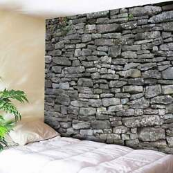 Stone Brick Patterned Tapestry Home Wall Hanging USA Bedspread Tapestries Decor