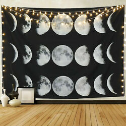 Moon Phase Change Tapestry Wall Hanging Home Decor Constellations Tapestry USA