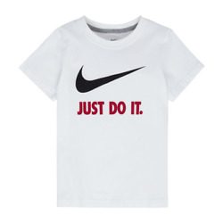 Nike Youth Short Sleeved T-Shirt Size 4 5 6 White Black Red $18 Gift PB M $12.99