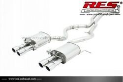 Res Rear Section +2 Tips Each Side For Bmw E90 E92 E93 M3 2007-2013 4.0