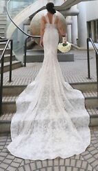 Berta Bridal 18-111 Wedding Gown Ivory, Fit and Flare, Spaghetti Straps
