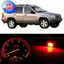 Gauge Cluster Red Bulb + Climate Control LED Set for 1999-01 Jeep Grand Cherokee
