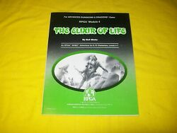Rpga 4 The Elixir Of Life Dungeons And Dragons Adandd - 2 Very Rare And Nice