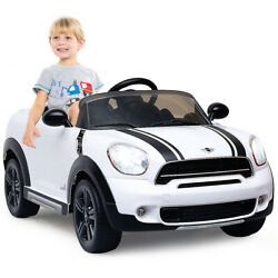 12V Electric Mini Countryman Licensed Kids Ride On Car Two Mode Christmas White