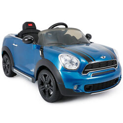 12V Electric Mini Countryman Licensed Kids Funny Ride On Car Blue Christmas Gift