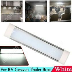 White Led Interior Ceiling Light With Switch Fixture For Rv Caravan Trailer Boat