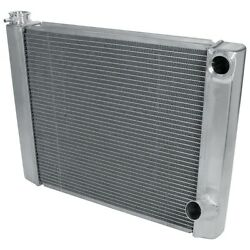 Radiator - 24 In W X 19 In H X 2-1/4 In D - Dual Pass - Passenger Side Inlet - P