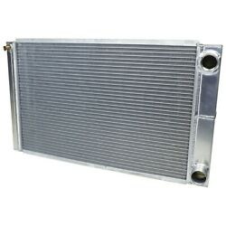 Radiator - 28 In W X 16 In H X 2-1/4 In D - Dual Pass - Passenger Side Inlet - 9