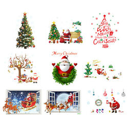 Assorted Christmas Stickers Wall Art Decal for MERRY CHRISTMAS Decoration