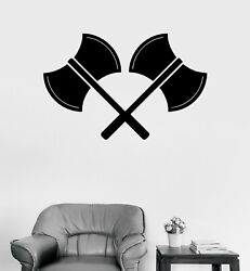 Wall Decal Weapons Medieval Axes Army Knights Vinyl Sticker Ed1744