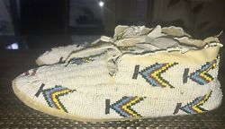 Full Beaded Vintage Native American Moccassins