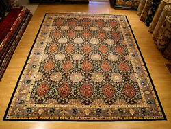 10 x 14 Hand Knotted High Quality Afghan Ziegler Rug _Vegetable Dyes Fine Wool