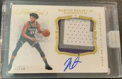 Marvin Bagley Iii 2018-19 Flawless 3 Clr Gu Rookie Patch Auto 2/10 Kings Sp Rare